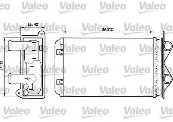 VALEO 812013 Радиатор печки