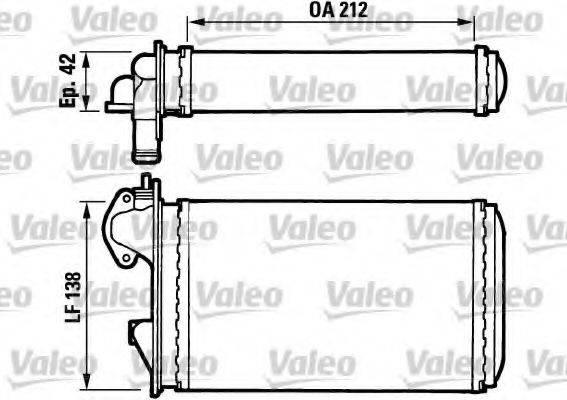VALEO 812029 Радиатор печки