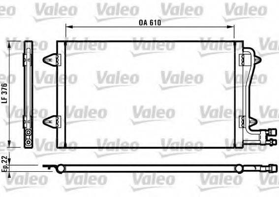 VALEO 816996 Конденсатор кондиционера