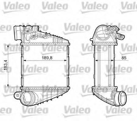 VALEO 817205 Интеркулер