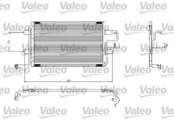 VALEO 817244 Конденсатор кондиционера
