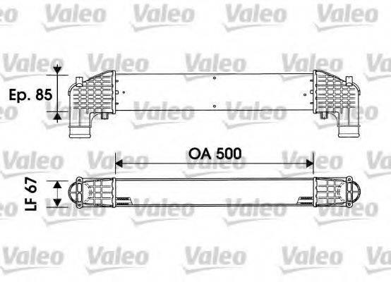 VALEO 817936 Интеркулер