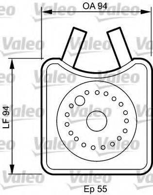 VALEO 817943 Масляный радиатор