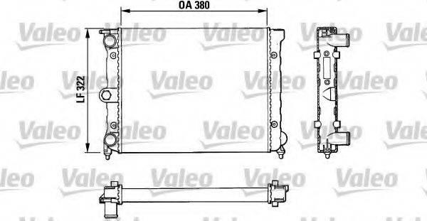 VALEO 883818 Радиатор охлаждения двигателя