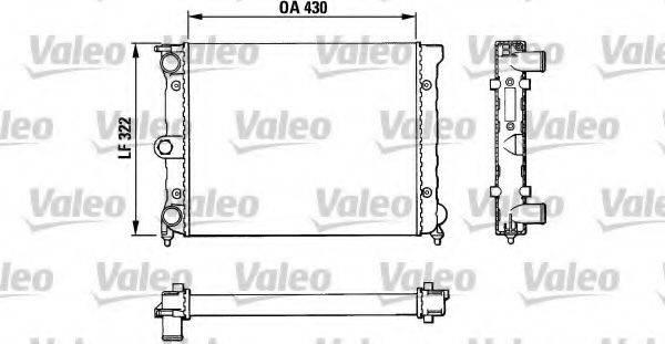 VALEO 883819 Радиатор охлаждения двигателя