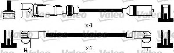 VALEO 346580 Комплект проводов зажигания