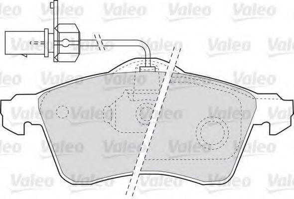 VALEO 598676 Тормозные колодки