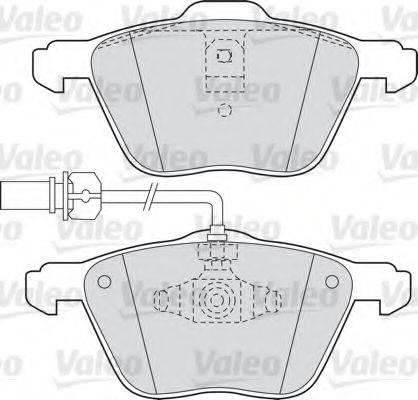 VALEO 598565 Тормозные колодки