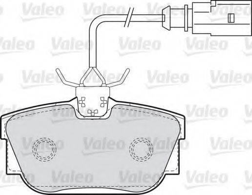 VALEO 598650 Тормозные колодки