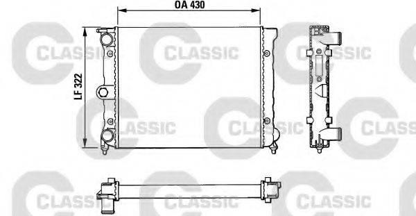 VALEO 383819 Радиатор охлаждения двигателя