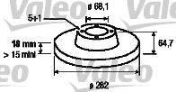 VALEO 197218 Тормозной диск