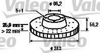 VALEO 186800 Тормозной диск