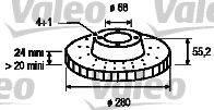 VALEO 186682 Тормозной диск