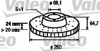 VALEO 186315 Тормозной диск
