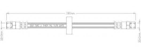 REMKAFLEX 1034 Тормозной шланг