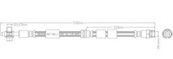 REMKAFLEX 3307 Тормозной шланг