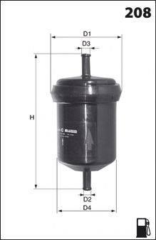 MECAFILTER E04 Топливный фильтр