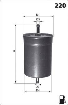 MECAFILTER ELE3567 Топливный фильтр