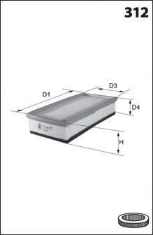 MECAFILTER ELP3901 Воздушный фильтр