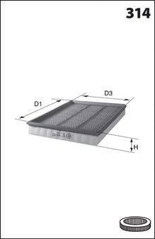 MECAFILTER ELP3732 Воздушный фильтр