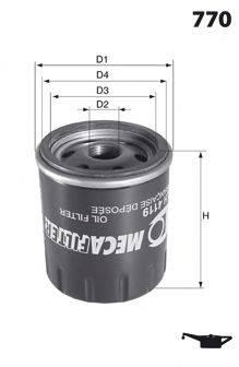 MECAFILTER ELH4095 Фильтр масляный ДВС