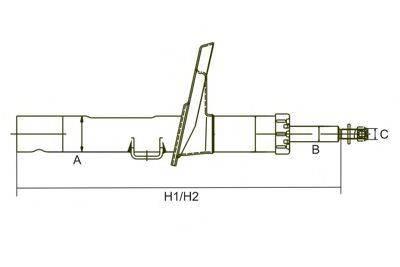 SCT GERMANY Z3606G Амортизатор