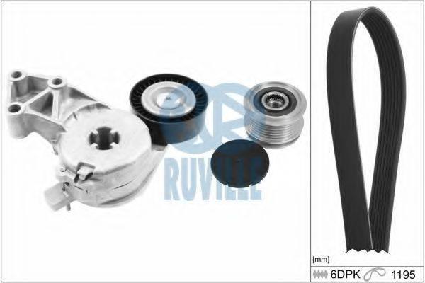 RUVILLE 5544480 Поликлиновой ременный комплект