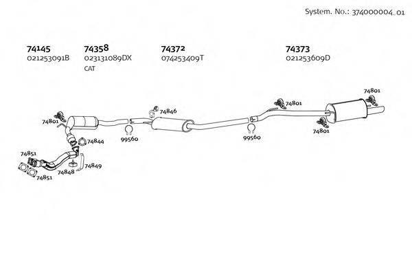 DINEX 37400000401 Система выпуска ОГ