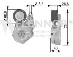 FLENNOR FA20959 Ролик натяжной ремня генератора
