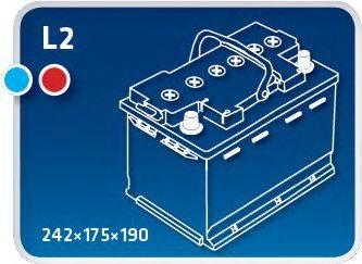 IPSA TME55 Аккумулятор автомобильный (АКБ)