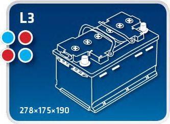 IPSA TME65 Аккумулятор автомобильный (АКБ)