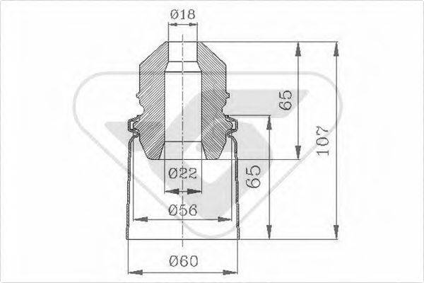 HUTCHINSON KP074 Комплект пыльника и отбойника амортизатора