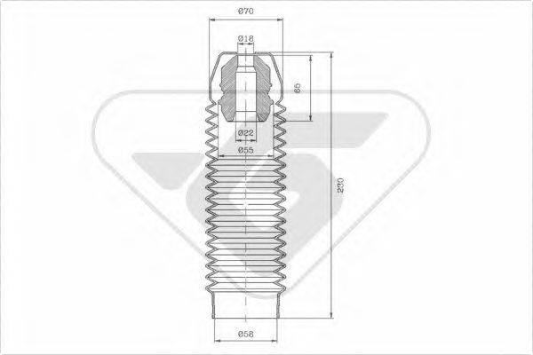 HUTCHINSON KP091 Комплект пыльника и отбойника амортизатора