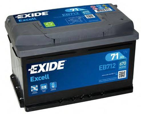 EXIDE EB712 Аккумулятор автомобильный (АКБ)