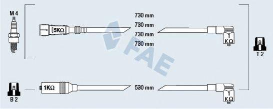 FAE 83979 Комплект проводов зажигания