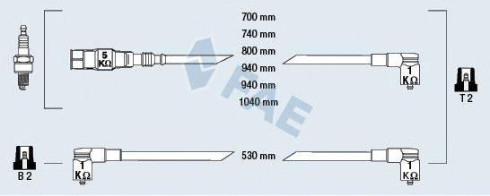 FAE 85070 Комплект проводов зажигания