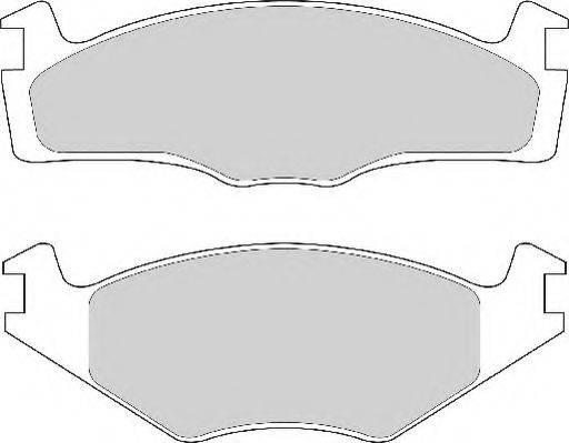 NECTO FD4151N Тормозные колодки