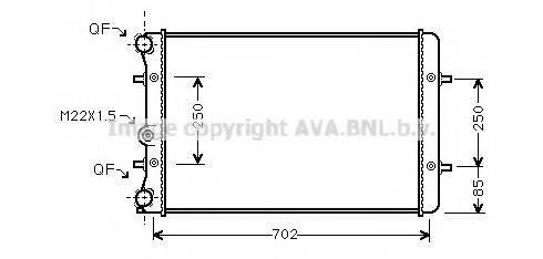 AVA QUALITY COOLING AI2155 Радиатор охлаждения двигателя