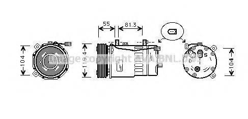 AVA QUALITY COOLING AIAK003 Компрессор кондиционера