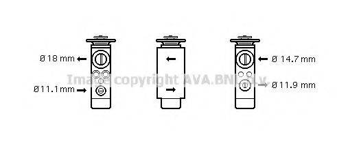 AVA QUALITY COOLING FD1380 Расширительный клапан кондиционера