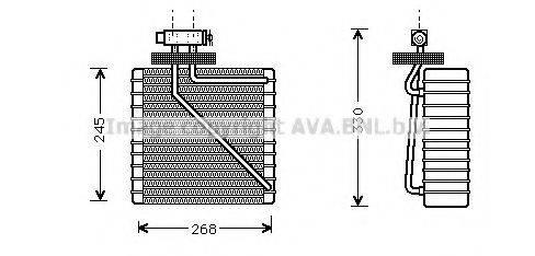 AVA QUALITY COOLING FDV270 Испаритель кондиционера