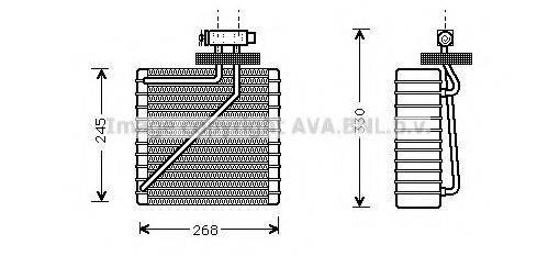 AVA QUALITY COOLING FDV271 Испаритель кондиционера