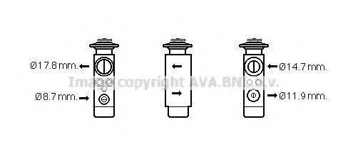 AVA QUALITY COOLING VW1113 Расширительный клапан кондиционера