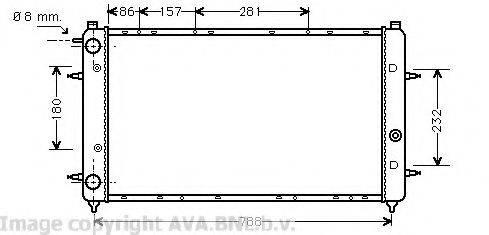 AVA QUALITY COOLING VW2114 Радиатор охлаждения двигателя