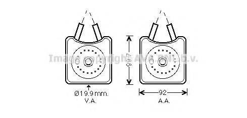 AVA QUALITY COOLING VW3215 Масляный радиатор