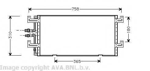 AVA QUALITY COOLING VW5145 Конденсатор кондиционера