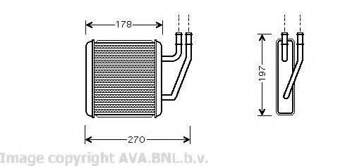 AVA QUALITY COOLING VW6203 Радиатор печки