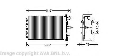 AVA QUALITY COOLING VW6239 Радиатор печки