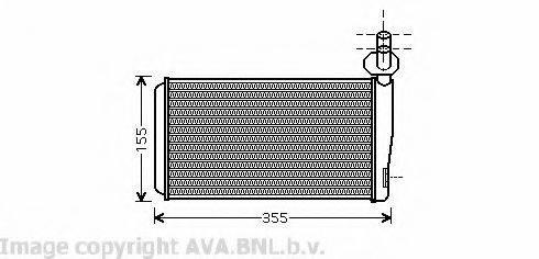 AVA QUALITY COOLING VW6259 Радиатор печки