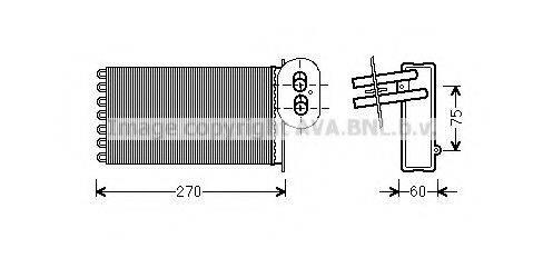AVA QUALITY COOLING VW6296 Радиатор печки